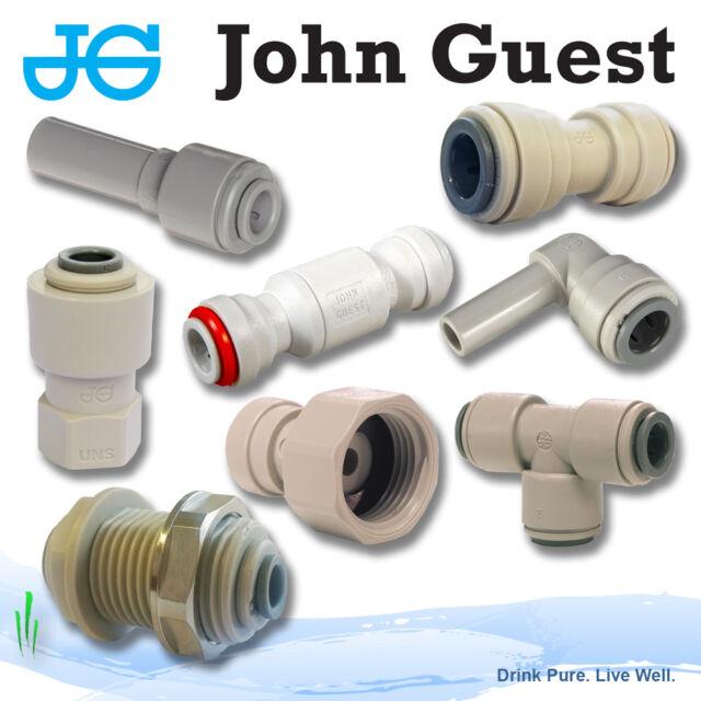 "keg connector John Guest Female Adaptor 3//8/"" x 7//16 UNS thread"