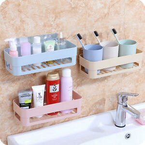 Superbe Image Is Loading Plastic Bathroom Kitchen Corner Wall Storage Rack  Organizer
