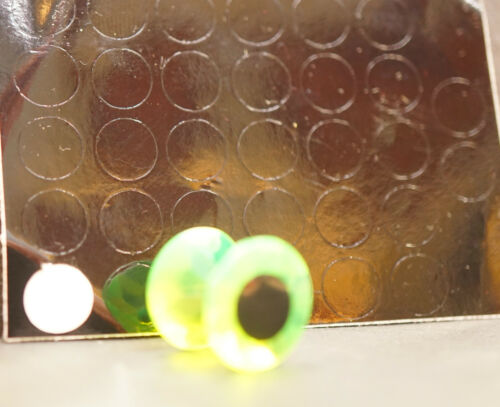 Diamond Fish Eyes 4mm 5mm 7mm 12mm easyshrimpeyes.dk SuperFluorescent CHARTREUSE