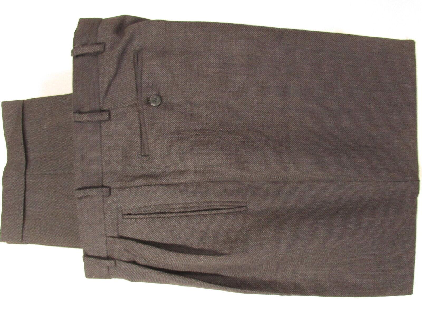 Zanella Duncan Mens Charcoal Pleated Dress Pants Size 34 34x31