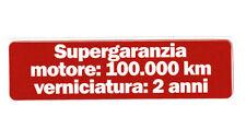 ADESIVO ALFA ROMEO SUPER GARANZIA SUPERGARANZIA ALFASUD ALFETTA GIULIETTA