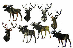 8 by 8-Inch-make pillow or quilt Dimensions Needlecrafts Moose Fabric Applique