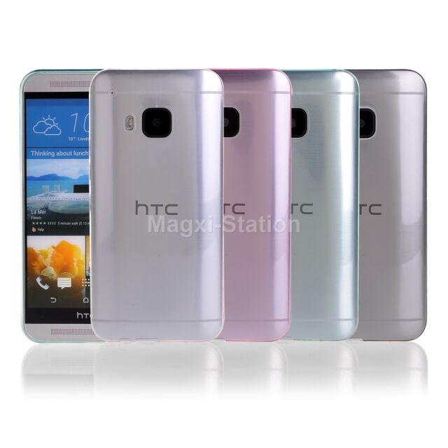 Ultra Slim Transparent Clear TPU Skin Case Cover For HTC One M9