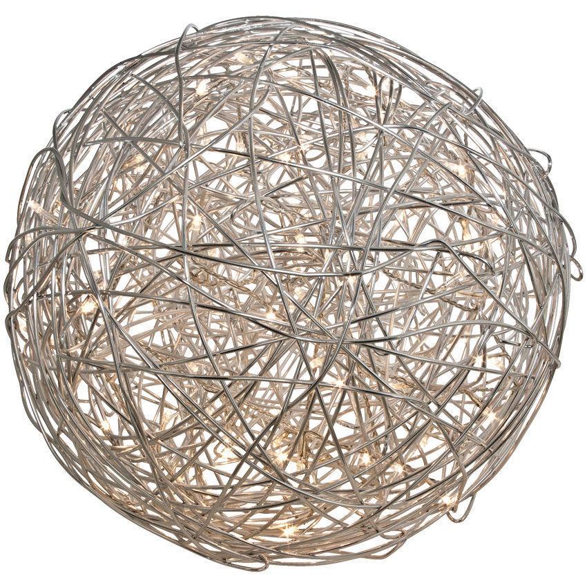 Drahtkugel 30 cm Außenleuchte 50 Leds Außendekoration Designerleuchte Ball