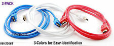 6 ft. High-Speed HDMI A/V Cables - Value 3-Pack Red/Blue/White Colors - HH-3006T