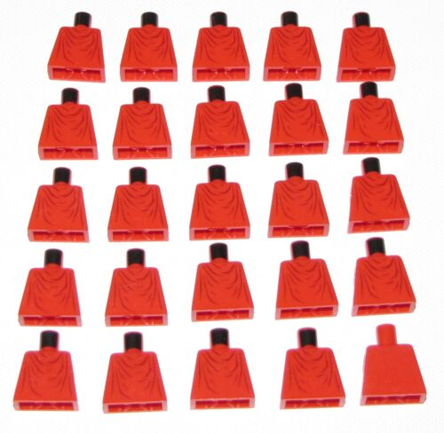 LEGO LOT OF 25 RED IMPERIAL GUARD STAR WARS TORSOS PARTS NO ARMS