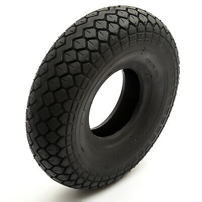 2x Tyre /& Innertube 4.00-5 Black Diamond Block Tread Mobility Scooter 5 Inch