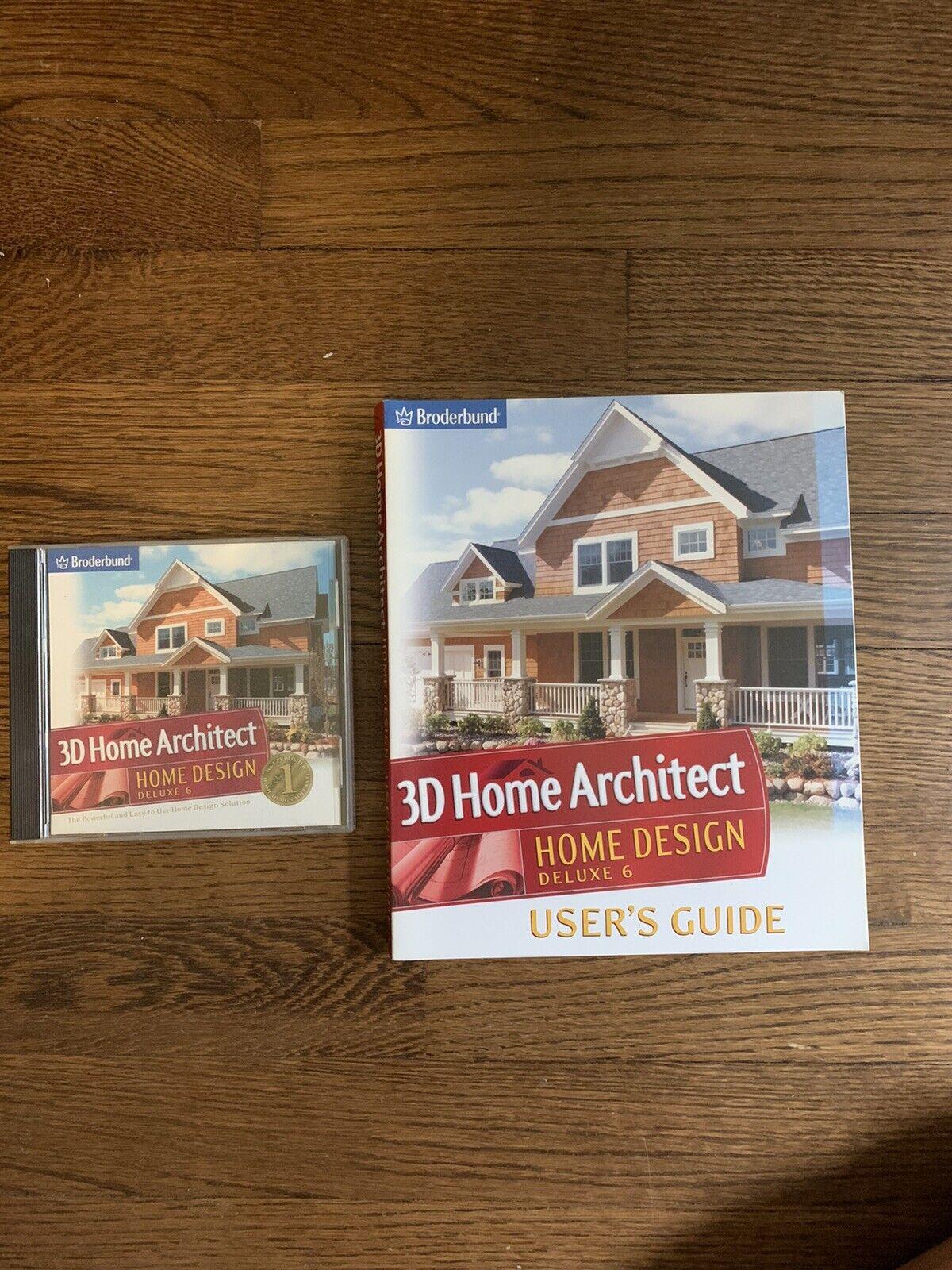 3d Home Architect Home Design Deluxe 6 0 Manual Pc Cd Broderbund Ebay