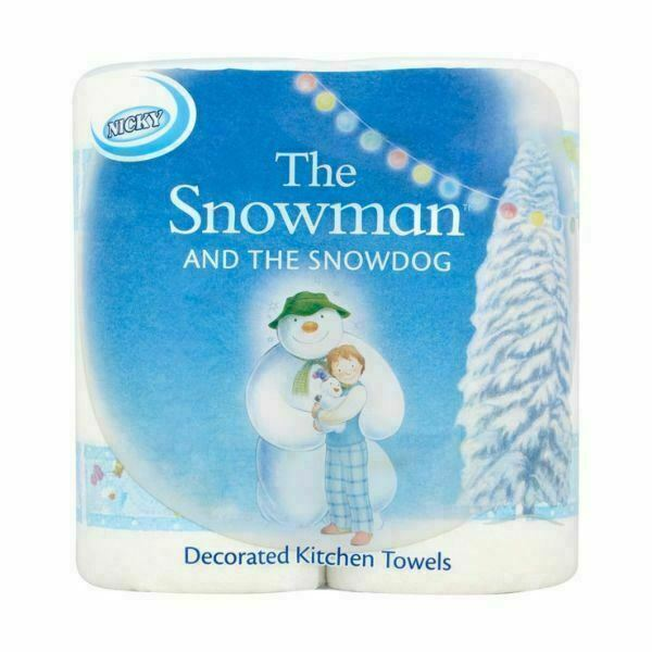 Nicky Snowman and the Snowdog Gift Set 4 Toilet Rolls /& 2 Kitchen Rolls