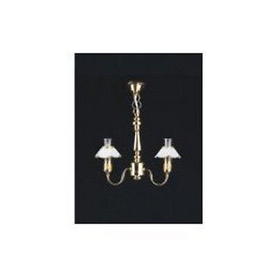 Two Up-Arm Chandelier Dolls House Miniature Electric Lighting