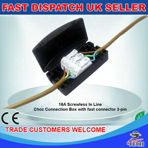 electrical junction box 24a 240v 3pole terminal block inline wire rh ebay com J- Box Wiring J- Box Wiring