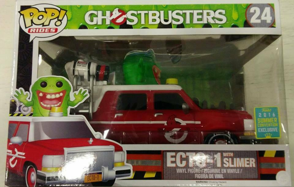FUNKO POP Manèges Series  Ghostbusters,24  Ecto-1 with SLIMER SUMMER CONVENTION