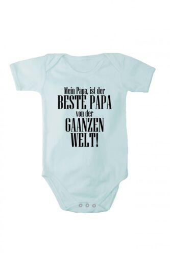 Baby Body mit Druck Mein Papa ist der BESTE PAPA in verschiedenen Sprachen