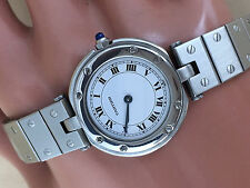 CARTIER  RONDE  STEEL  QUARTZ WATCH BEAUTIFUL CARTIER WATCH MINT CONDITION