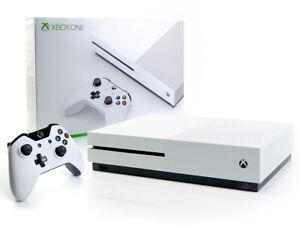 Microsoft-XBOX-ONE-S-Konsole-500GB-Weiss-Controller-Spielkonsole