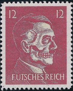 Stamp-Replica-Label-Germany-0098-WWII-Lame-Fuhrer-Mock-Hitler-USA-Forgery-MNH