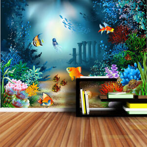 3D-Undersea-World-PVC-Self-adhesive-Kid-Bedroom-Wallpaper-Home-Decal-Murals