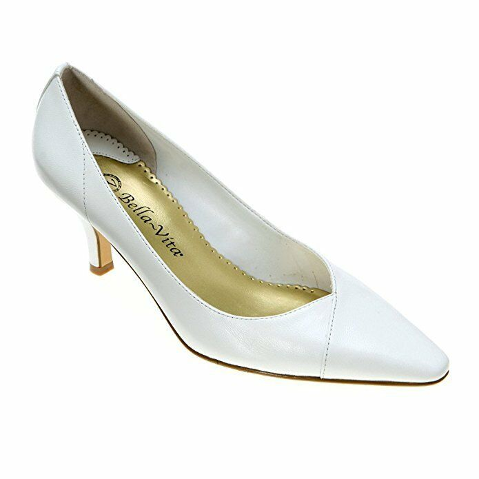 Bella Vita Wow Heels Schuhes Leder Pumps Schuhes WEISS  8W