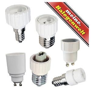 NEU ! 10 x Adapter E27 auf E14  für Leuchtmittel Glühlampen LED Halogen usw