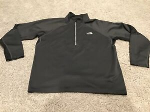 The-North-Face-Mens-Xl-Black-1-4-Zip-Shirt