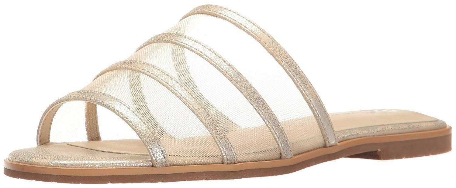 BC Footwear femmes Show me how Open Toe Casual Slide Sandals, argent, Taille 7.5