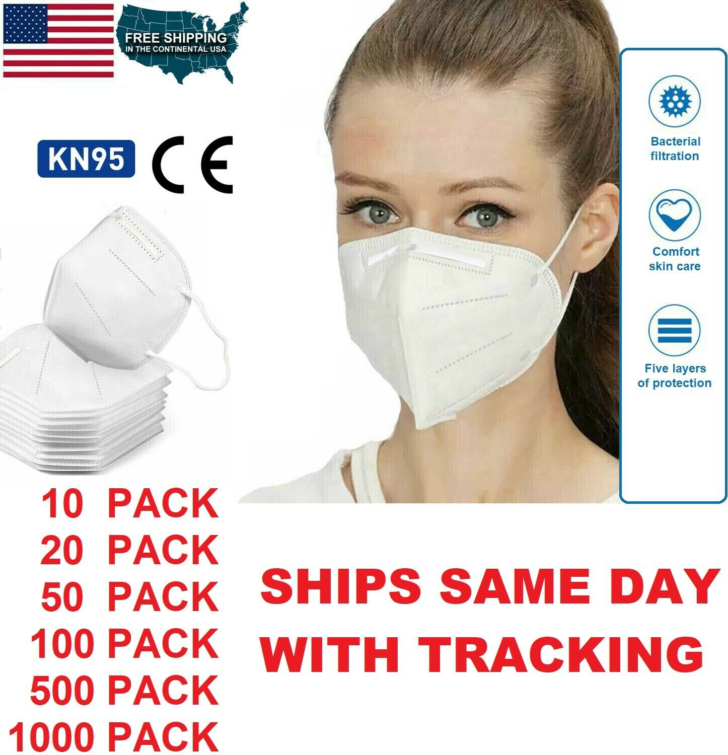 10-100 PC Childrens Disposable Face Cloth 3Ply Ear Loop Fabric,Outdoor Sport Safety Protection