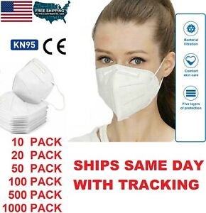 10 / 20 K-N95 Disposable Fabric Protective Mask Elastic Ear Loop Face Masks KN95