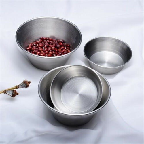 Stainless Steel Small Bowl Sauce Soup Snack Dish Dip Bowl Break Resistant SI