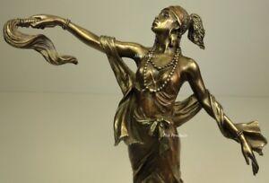 ORISHA-OYA-Goddess-of-Wind-Yoruba-African-Statue-Sculpture-Bronze-Finish