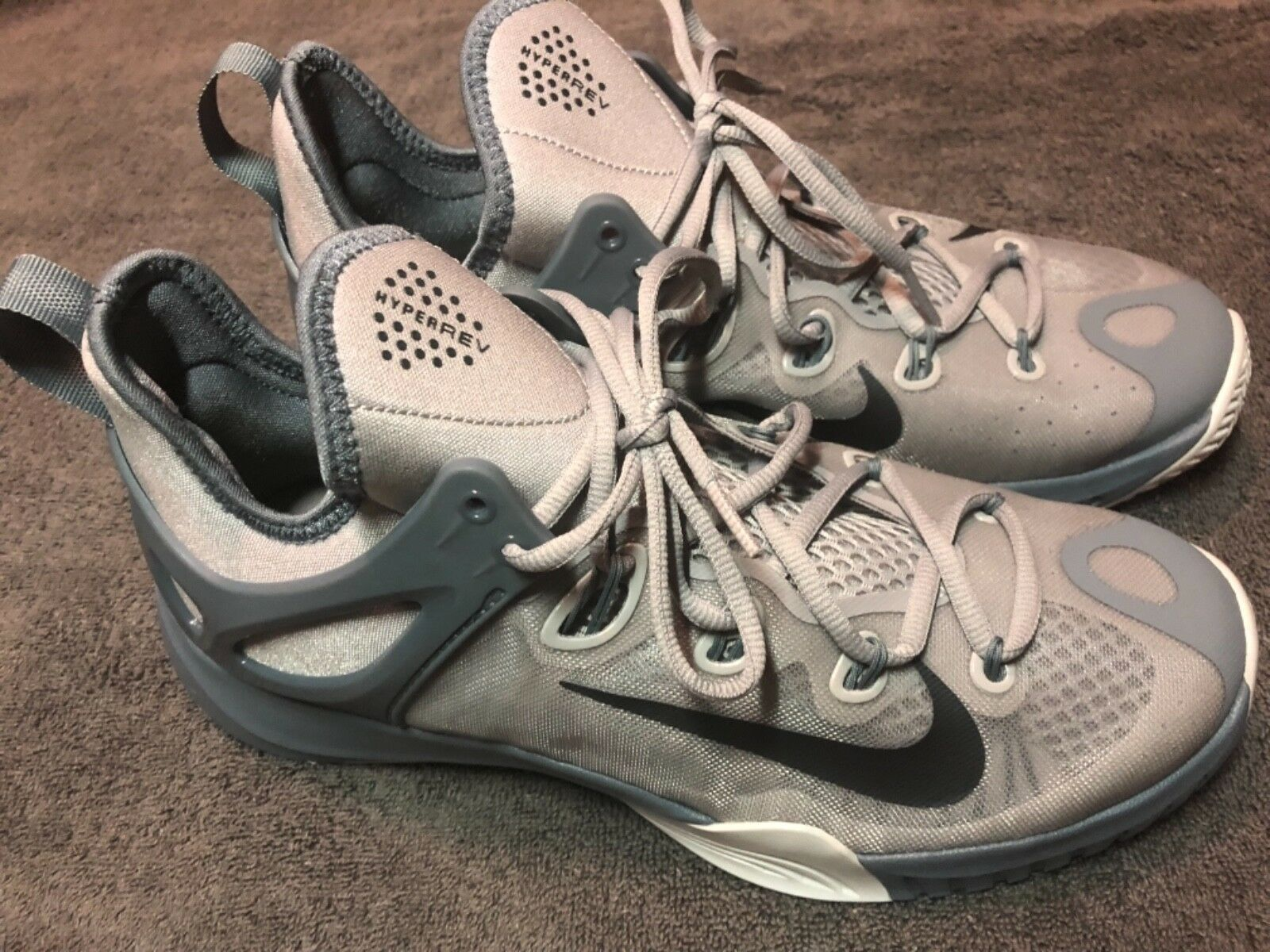 Uomo Nike Zoom HyperRev 2015 Basketball Shoes - (705370 040) Wolf Grey - Shoes Size 9 e67bf7