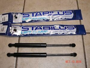 BMW-E60-E61-5-Series-OEM-Hood-2-Struts-Shock-Pair-Lift-Supports-STABILUS-New