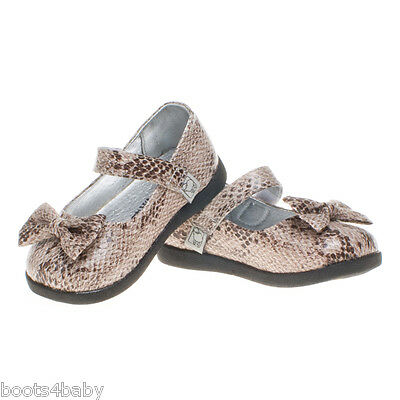 Girls Toddler Infant Kids Snake Skin Synthetic Leather Party Shoes SPECIAL OFFER