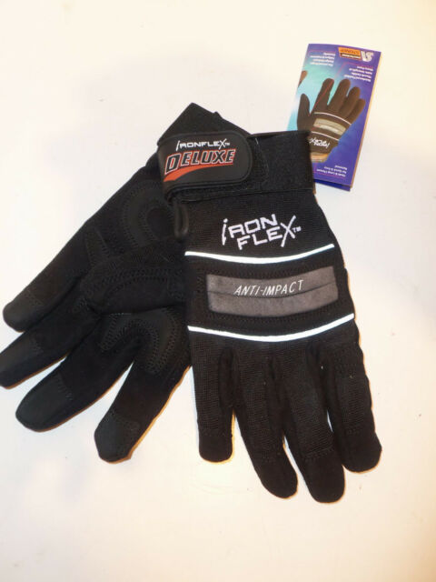 NEW - Steiner IronFlex Deluxe Black Tactical Padded Gloves Washable  Size Medium
