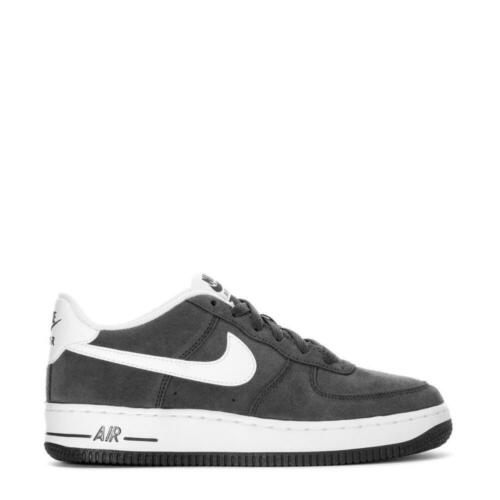 Nike Air Force 1 Low Nubuck Anthracite//White Sz 4-7 New In Box 596728-031 GS