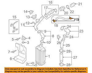 KIA OEM 11-15 Optima Turbo Turbocharger Intercooler-Outlet Hose Clamp 282923A070