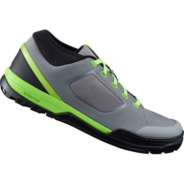 Shimano GR7 (GR700) flat pedal MTB shoes, grey    green, size 38  selling well all over the world