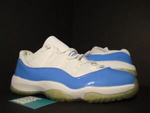 c80e22f2d3dc5 2001 Nike Air Jordan XI 11 Retro Low UNC WHITE COLUMBIA BLUE 136053 ...