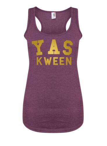 RuPaul Drag Queen Diva Attitutde Tank Top Yas Kween Women/'s Racerback Vest