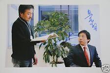 Kiyoshi Kurosawa 黒沢 清 & teruyuki kagawa 香川 照之 signed foto autógrafo/AUTOGRAPH