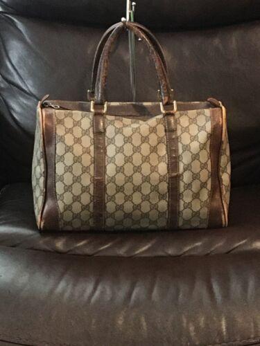 Vintage Gucci GG Monogram Boston Brown Speedy Bag