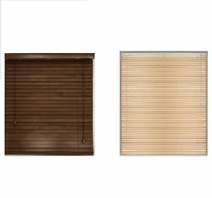 Easy Fit Multiple Size Wood Grain Venetian Blind Drop
