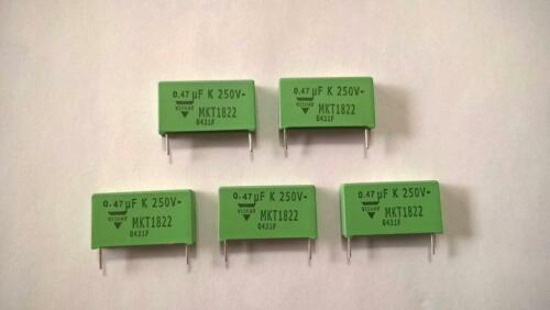 ZML10 Lot of 5 pcs  MKT1822447255 Film Capacitor 0.47uF 10/% 250Vdc 160Vac Radial