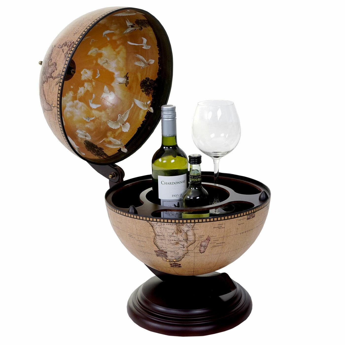 GLOBO tischbar mdc-t873, mini bar tischbar, globo terrestre per 3 bottiglie