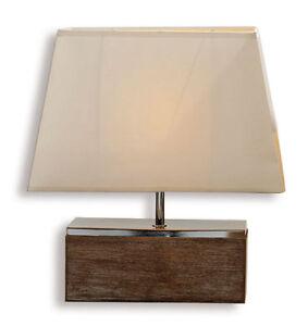Lampe Tischlampe Aus Holz Design Holzlampe Tischleuchte Licht 40cm