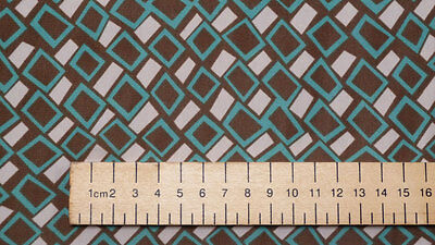 SALE!!!! Poly Chiffon Geometric Print Dress Fabric Material (Turquoise version)