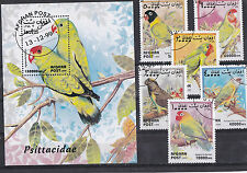 Afghanistan 1999 - Set + Block - Vogels/Birds/Vögel (Parrots)