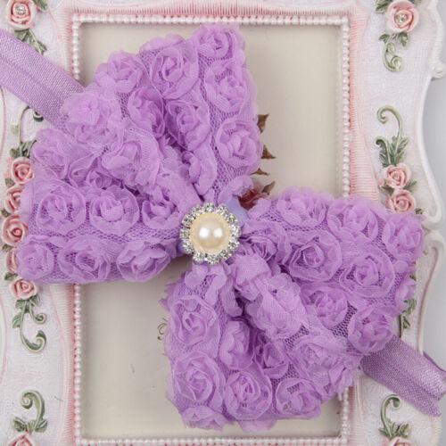 Big Velvet Bow Tie Head Wrap Turban Top Knot Headband Newborn Girl Kids Headwear