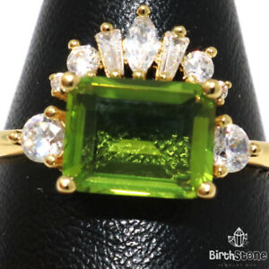 3Ct Radiant Emerald CZ Pave Band Ring Women Jewelry Gift 14K White Gold Plated