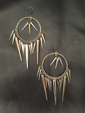 Earrings Big BronzeHippie Bohemian Boho Tribal Gothic Belly Dance Spikes A1019