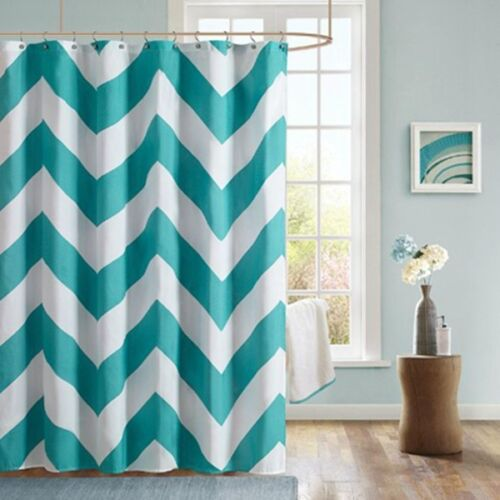 Wavy Waterproof Curtain Shower Stripes Fabric Towel Bath Shower Curtain new